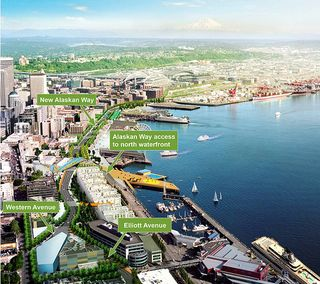 Map of New Waterfront Courtesy of WSDOT