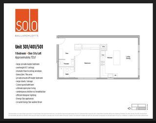 Floorplan for Solo Lofts