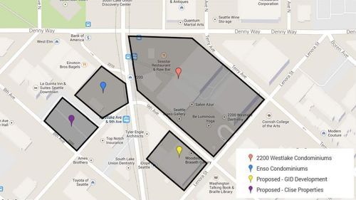 Map of New Construction Buildings
