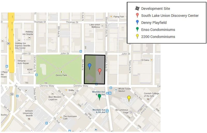 Map of Discovery Center Site