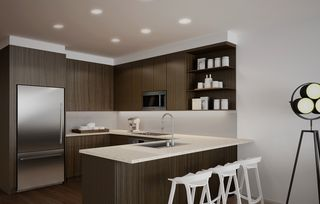 Kitchen in Dark Color Scheme